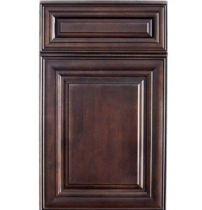 Dark Chocolate Cabinet Sample   Cabinets and Granite Direct