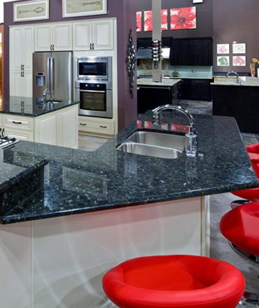 Kitchen Black Marble Design By Cabinets and Granite Direct